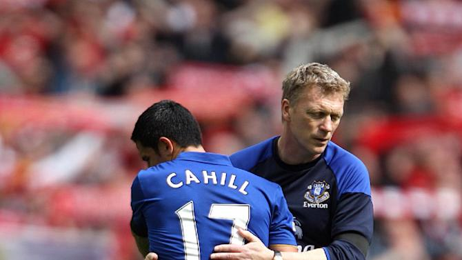 Soccer - Tim Cahill and David Moyes File Photo