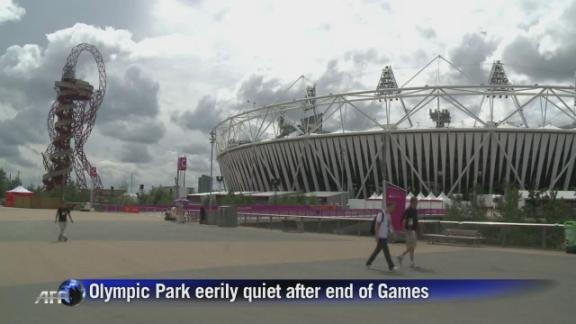 Olympic Park empty as London prepares for Paralympics
