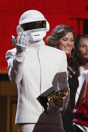 Thomas Bangalter, of Daft Punk, accepts the award for …
