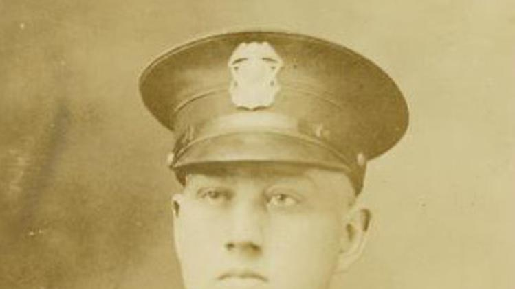 This undated photo provided by Kathleen Smith shows her grandfather Sgt. Caleb Embree Smith of the Flint, Mich., Police Department, who died by poisoning in 1921. Smith is one of 321 officers whose name will be added to the National Law Enforcement Officers Memorial in Washington, on Monday, May 13, 2013. (AP Photo/Courtesy of Kathleen Smith)