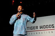 Tiger Woods, pictured on April 28, said he has solved the swing problems that led to his worst professional Masters finish in a video posted on his website Monday in which he answered questions from fans