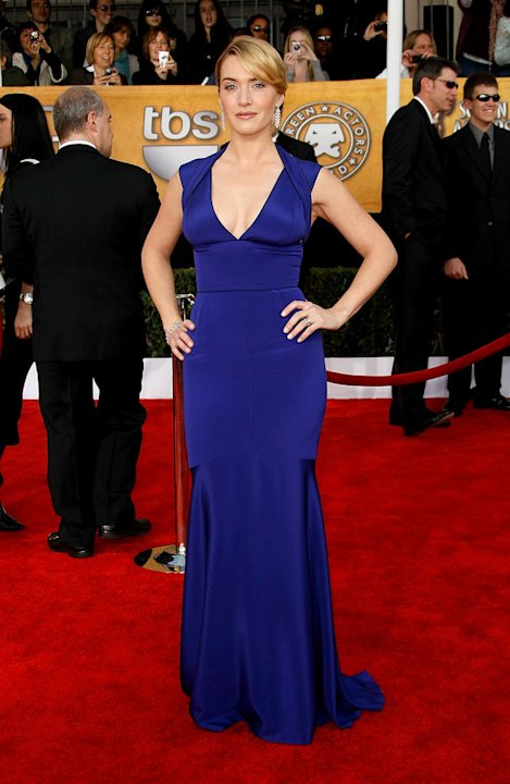 Kate Winslet arrives at the 15th Annual Screen Actors Guild Awards held at the Shrine Auditorium on January 25, 2009 in Los Angeles, California.