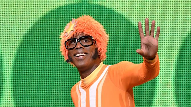DJ Lance Rock performs on stage at Yo Gabba Gabba! LIVE! Music Is Awesome! at the Shrine Auditorium on Saturday November 22, 2014, in Los Angeles. (Photo by John Shearer/Invision for DHX Media/AP Images)