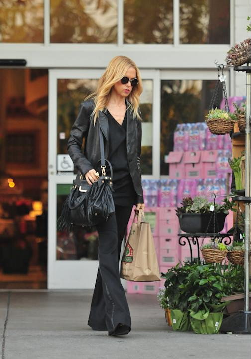 To Rachel Zoe, the grocery store is a runway; tuxedo pants, a leather blazer and sleek, black accessories are mandatory. (Bryan/Kido/NPG)