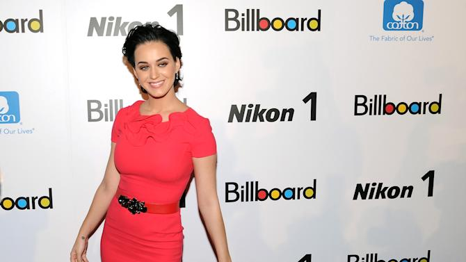 """""""Woman of the Year"""" honoree, singer Katy Perry, attends Billboard's """"Women in Music 2012"""" luncheon at Capitale on Friday Nov. 30, 2012 in New York. (Photo by Evan Agostini/Invision/AP)"""
