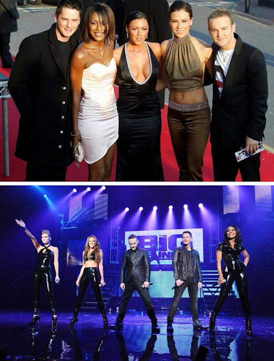 Big Reunion bands before and after photos: Michelle Heaton has probably undergone the biggest transformation of all of Liberty X, but they can still pull off the PVC outfits. Copyright [PA/Rex]
