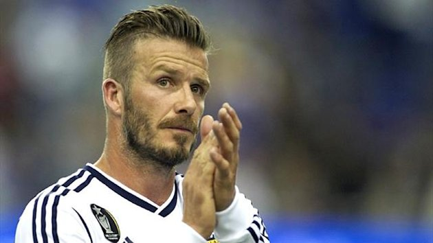 David Beckham playing for LA Galaxy, May 2012