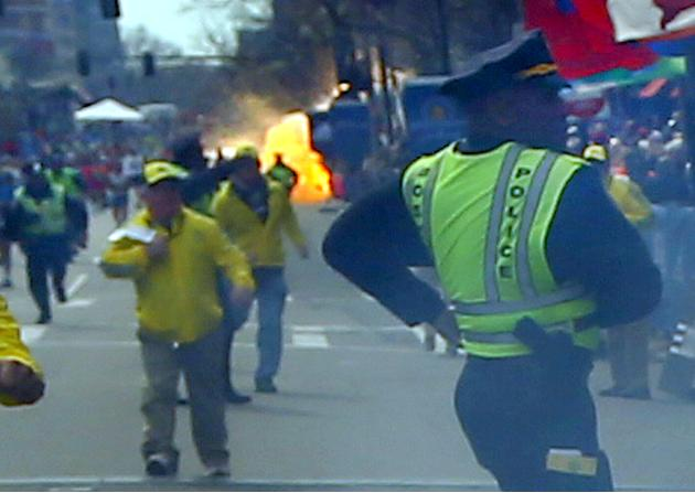 Explosions At 117th Boston Marathon