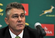 South Africa coach Heyneke Meyer, seen here in January, admits he has serious back row problems to solve before a Rugby Championship third-round clash in Australia next month