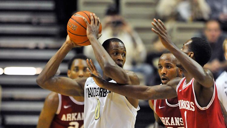 NCAA Basketball: Arkansas at Vanderbilt