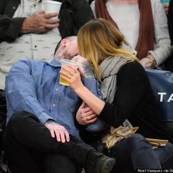 Cameron Diaz & Benji Madden Pucker Up For Kiss Cam At Lakers Game