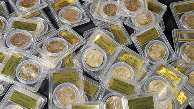 some of the 1,427 Gold-Rush era U.S. gold coins