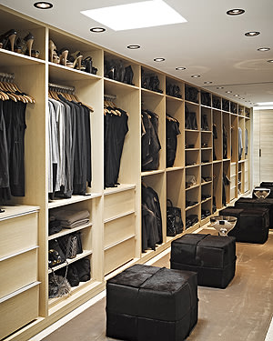 What designer's home would be complete without a gigantic closet?