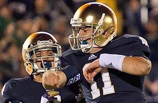Notre Dame QB Tommy Rees. (US Presswire)
