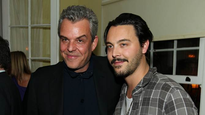 """IMAGE DISTRIBUTED FOR STARZ - Danny Huston, left, and Jack Huston pose together at the after party for the premiere of """"Spartacus: War of the Damned"""" on Tuesday, Jan. 22, 2013 in Los Angeles. """"Spartacus: War of the Damned"""" premieres Friday, Jan. 25 at 9PM on STARZ. (Photo by Matt Sayles/Invision for STARZ/AP Images)"""