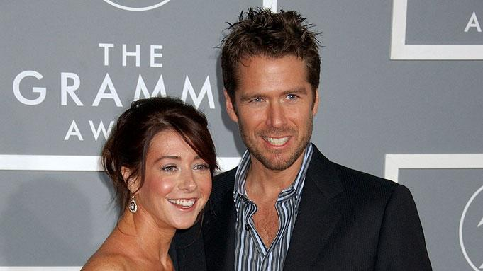 Alyson Hannigan and Alexis Denisof at The 49th Annual Grammy Awards.