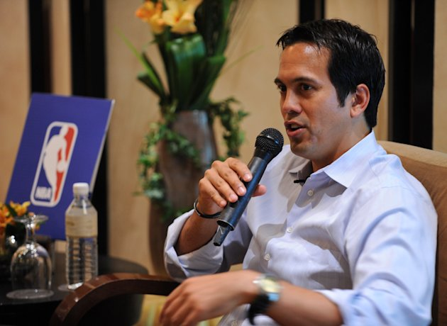 Erik Spoelstra, head coach of the 2012 N