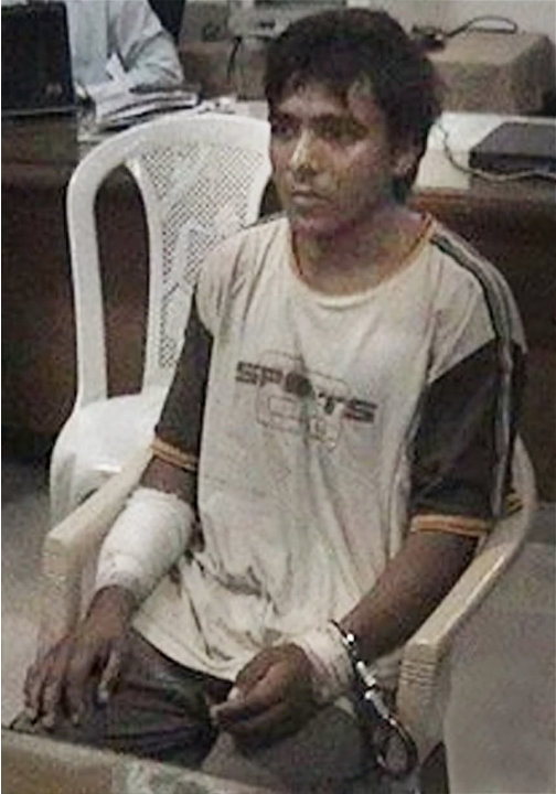 FILE - This undated file photo shows Pakistani man Mohammed Ajmal Kasab, the lone survivor among 10 gunmen of the 2008 Mumbai terror attack, in Mumbai, India.  India executed Ajmal Kasab from the 2008
