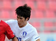 South Korea midfielder Han Kook-Young, pictured in January 2012, was ruled out of the Olympics on Tuesday after breaking his left foot in training