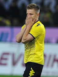 Dortmund&#39;s Jakub Blaszczykowski, pictured during their German first division Bundesliga match vs VfB Stuttgart, in Dortmund, on March 30. Dortmund play Wolfsburg next, at Volkswagen Arena, on Saturday