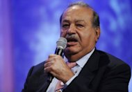 Mexican telecom magnate Carlos Slim speaks during the 2011 Clinton Global Initiative meeting in 2011 in New York. Slim moved to grow his telecoms empire into central and eastern Europe by raising his stake in Telekom Austria to 9.9 percent with the aim of obtaining 25.9 percent