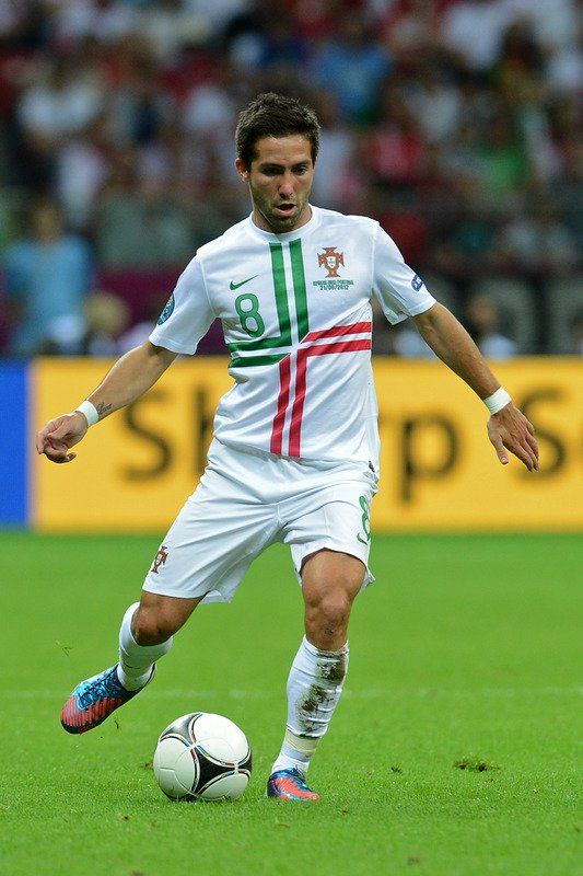 Portuguese Midfielder Joao Moutinho Passes AFP/Getty Images