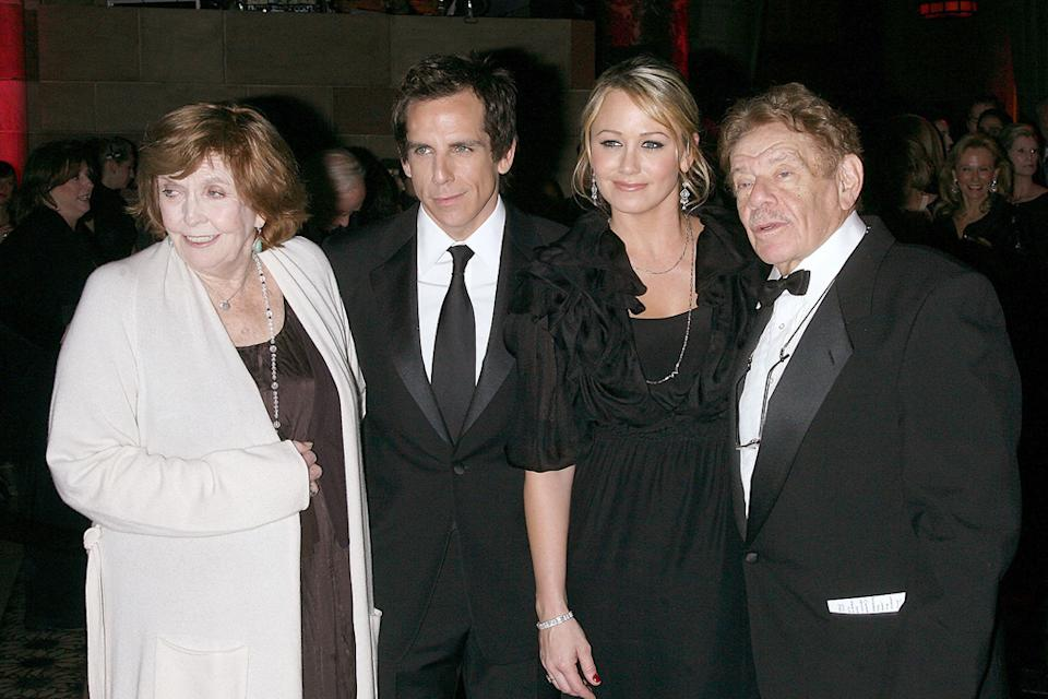 24th Annual Museum of the Moving Image's salute to Ben Stiller 2008 Anne Meara Ben Stiller Christine Taylor Jerry Stiller