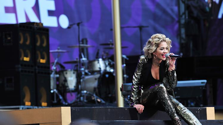 Rita Ora performs at The Sound of Change Live at Twickenham Stadium in London on Saturday, June 1st, 2013. (Photo by Jon Furniss/Invision/AP Images)