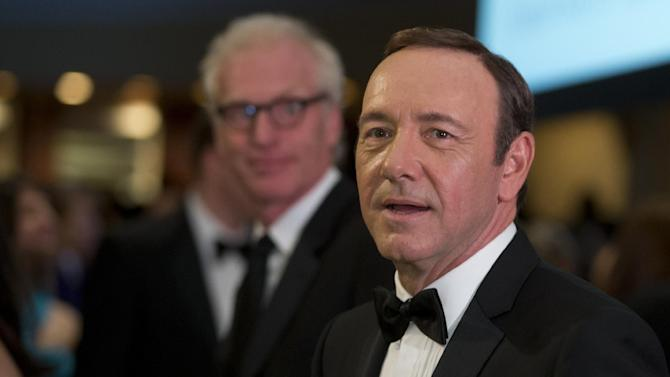 "Actor Kevin Spacey, from the Washington based Netflix series ""House of Cards, the White House Correspondents' Association Dinner at the Washington Hilton Hotel, Saturday, April 27, 2013, in Washington.  (AP Photo/Carolyn Kaster)"
