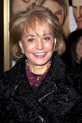 Barbara Walters at the New York premiere of Miramax's Bridget Jones's Diary