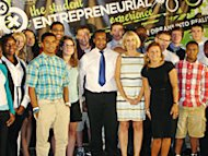 Margaret Marie Biutler, program director of new Syracuse University's Student Entrepreneurial Experience, SEE with members of the 2012 class.