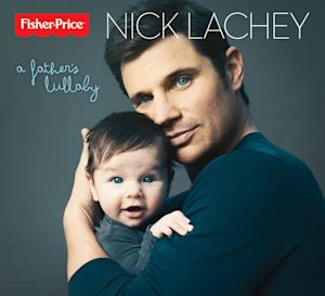 """This publicity photo provided by Fisher-Price shows multi-platinum recording artist and new father, Nick Lachey's album cover for """"A Father's Lullaby."""" Lachey's first-ever lullaby album inspired by his son, Camden, releases in March in partnership with Fisher-Price, Inc., a subsidiary of Mattel, and Mood Entertainment. Lachey and wife, Vanessa, welcomed their son in Sept. 2012. (AP Photo/Fisher-Price, Austin Hargrave)"""