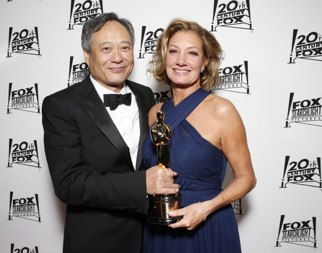 Director Ang Lee and Fox 2000 Pictures President Elizabeth Gabler attend the Twentieth Century Fox And Fox Searchlight Pictures Academy Awards Nominees Party at Lure on Sunday, February 24, 2013 in Lo