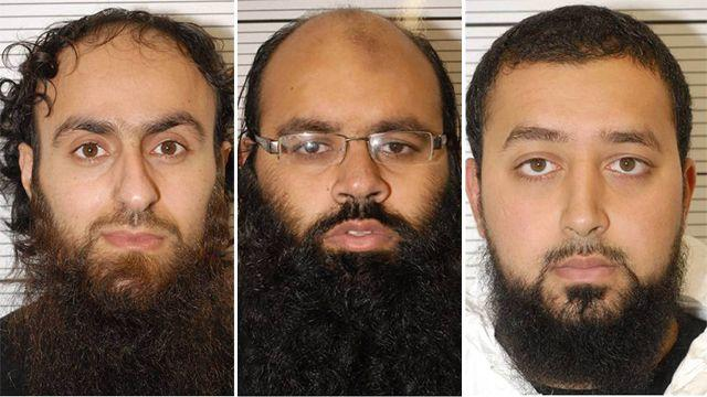 Jury finds 3 men guilty of plotting terror attacks in UK