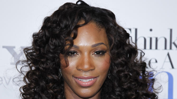 """FILE - In a Feb. 9, 2012 file photo, tennis player Serena Williams poses at The Pan African Film & Arts Festival's opening night premiere of Screen Gems' """"Think Like a Man"""" in Los Angeles.   Serena Williams says altering her diet in support of big sister Venus hasn't been much of a hardship.  (AP Photo/Danny Moloshok, file)"""