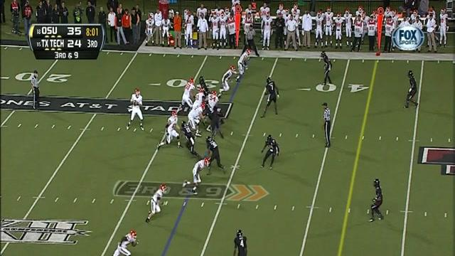 Oklahoma State - Clint Chelf 67 Yard TD Rush vs Texas Tech