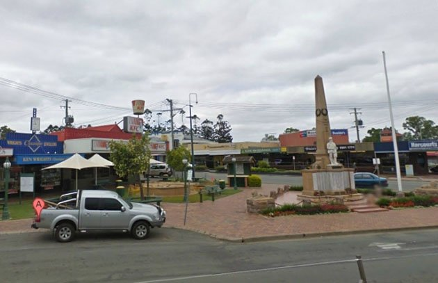 The scene of the crime in Beaudesert, Australia (Google Maps with Street View)