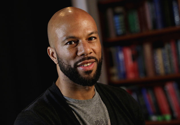 "This Nov. 4, 2011 file photo shows rapper Common posing for photos in New York. Common is participating in a benefit concert in support of freeing Native American activist Leonard Peltier, who is serving two life sentences for the 1975 execution-style deaths of two FBI agents. Common will perform in ""Bring Leonard Peltier Home 2012 Concert"" at New York's Beacon Theatre, joining a lineup that includes Belafonte, Jackson Browne, Pete Seeger and others. (AP Photo/Richard Drew, file)"