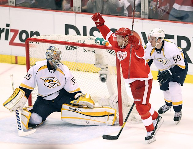 Nashville Predators v Detroit Red Wings - Game Three