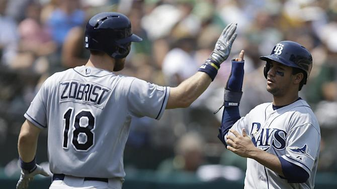 Rays break loose, avoid sweep in Oakland