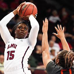 #WCCHoops Championships | One-On-One with LMU's Emily Ben-Jumbo
