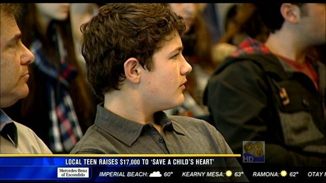 "Local teen raises $17,000 to ""Save a Child's Heart"""