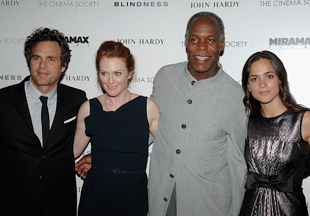 Blindess Screening 2008 NY Mark Ruffalo Julianne Moore Danny Glover Alice Braga