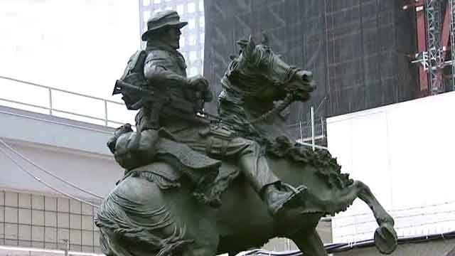 'Horse soldier' memorial unveiled at Ground Zero