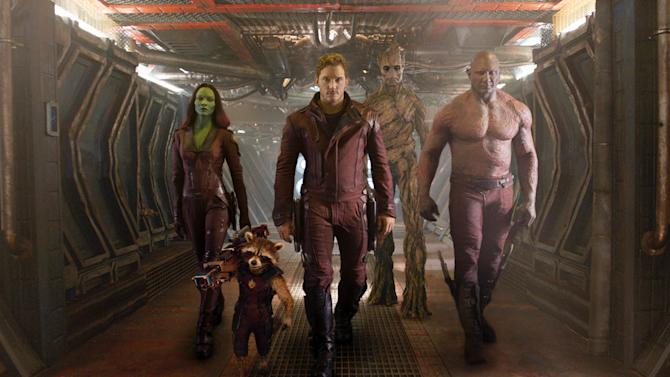 Marvel's 'Guardians' rockets to top of box office