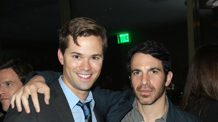IMAGE DISTRIBUTED FOR DETAILS MAGAZINE - Andrew Rannells, left, and Chris Messina attend DETAILS Hollywood Mavericks Party on Thursday, Nov. 29, 2012 in Los Angeles. (Photo by Matt Sayles/Invision for Details Magazine/AP Images)