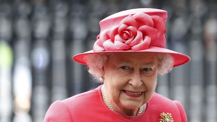 Britain's Queen Elizabeth arrives for the Commonwealth Observance Service at Westminster Abbey in London