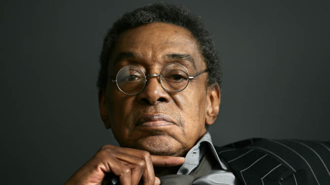 FILE - This Monday, March 6, 2006 file photo shows Don Cornelius at his office in Los Angeles.  Cornelius, 75, died Feb. 1, 2012 at his home in Los Angeles.  (AP Photo/Damian Dovarganes, File)