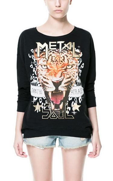 Tiger Design Sweatshirt, $39.90 at zara.com