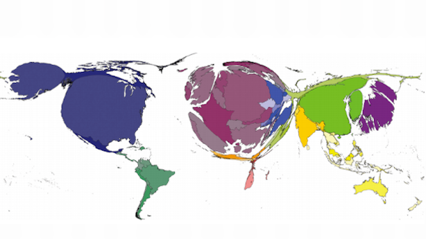 A Map of the World Based on Book Publishing